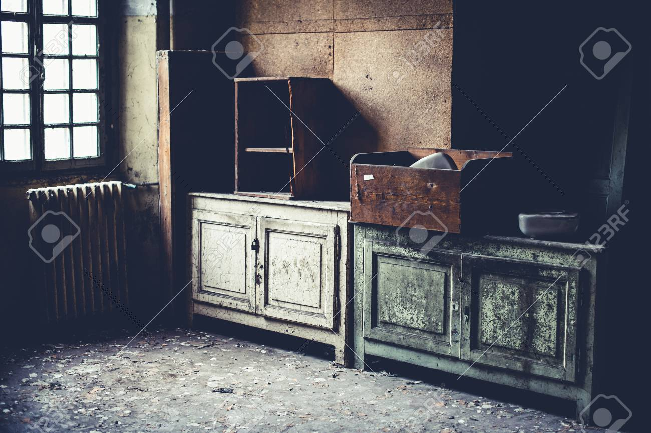 old dirty furniture- objects and places lost in time
