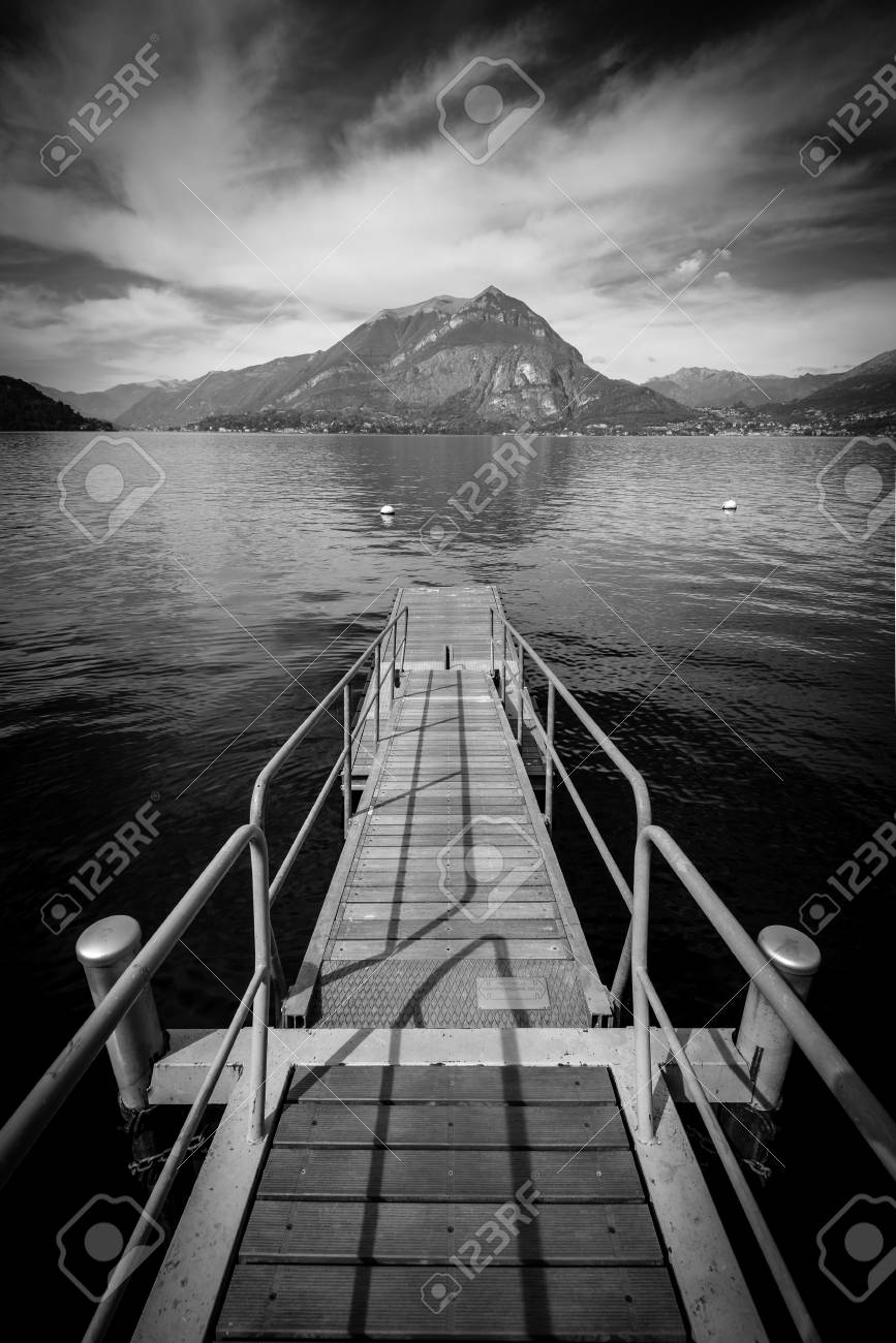 Como lake district black and white image stock photo 99717844