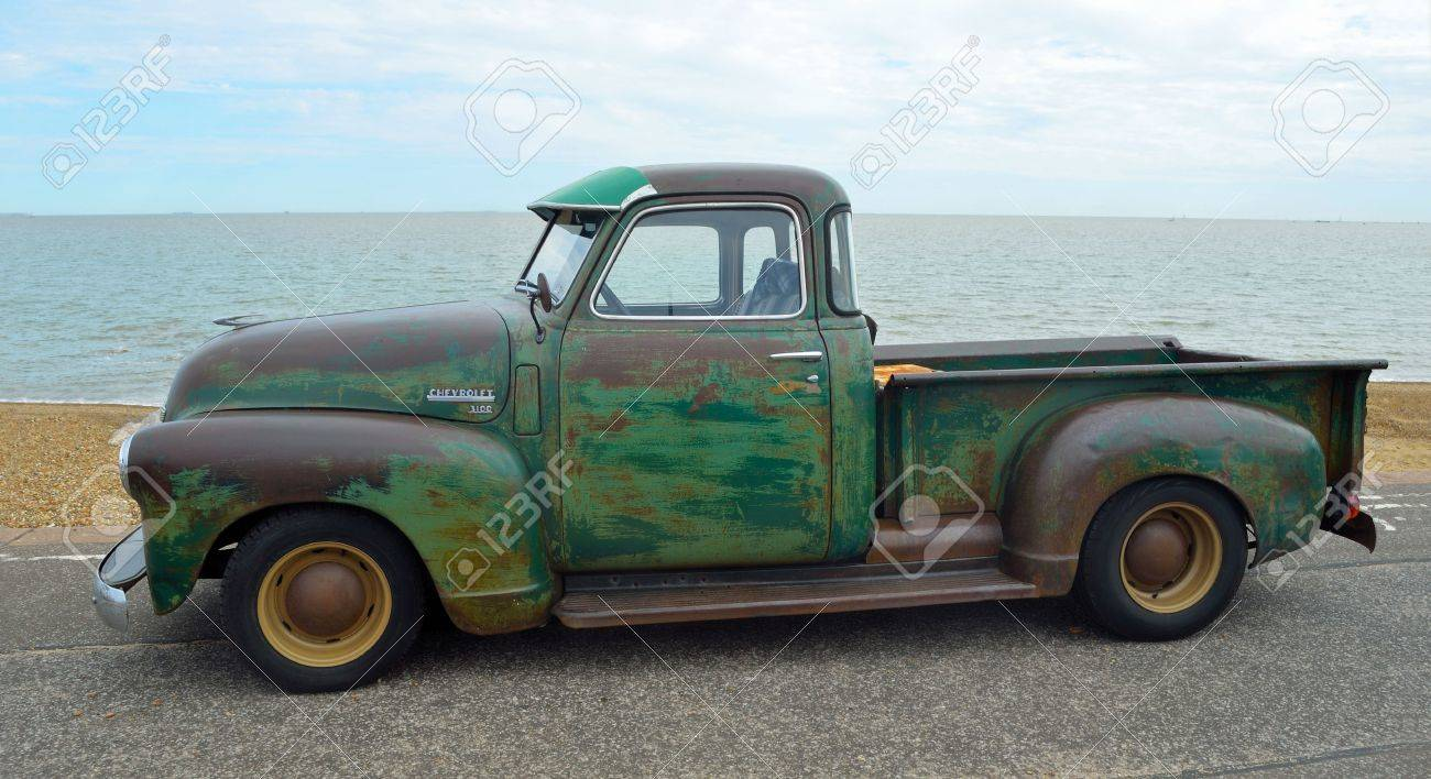 Classic Chevrolet 3100 Pickup Truck With Some Rust On Felixstowe ...