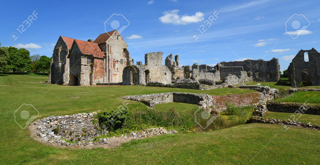 Castle Acre Norfolk England May 09 2018 The Remains Of