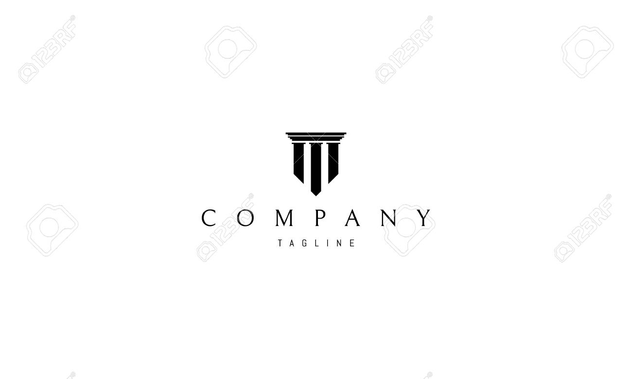 Three columns vector logo image - 114443881