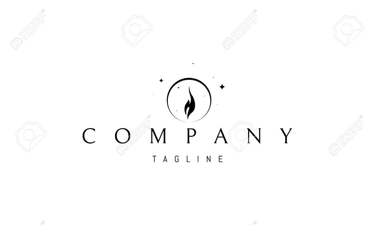 Vector logo on which an abstract image of the glow of a candle flame. - 172702100