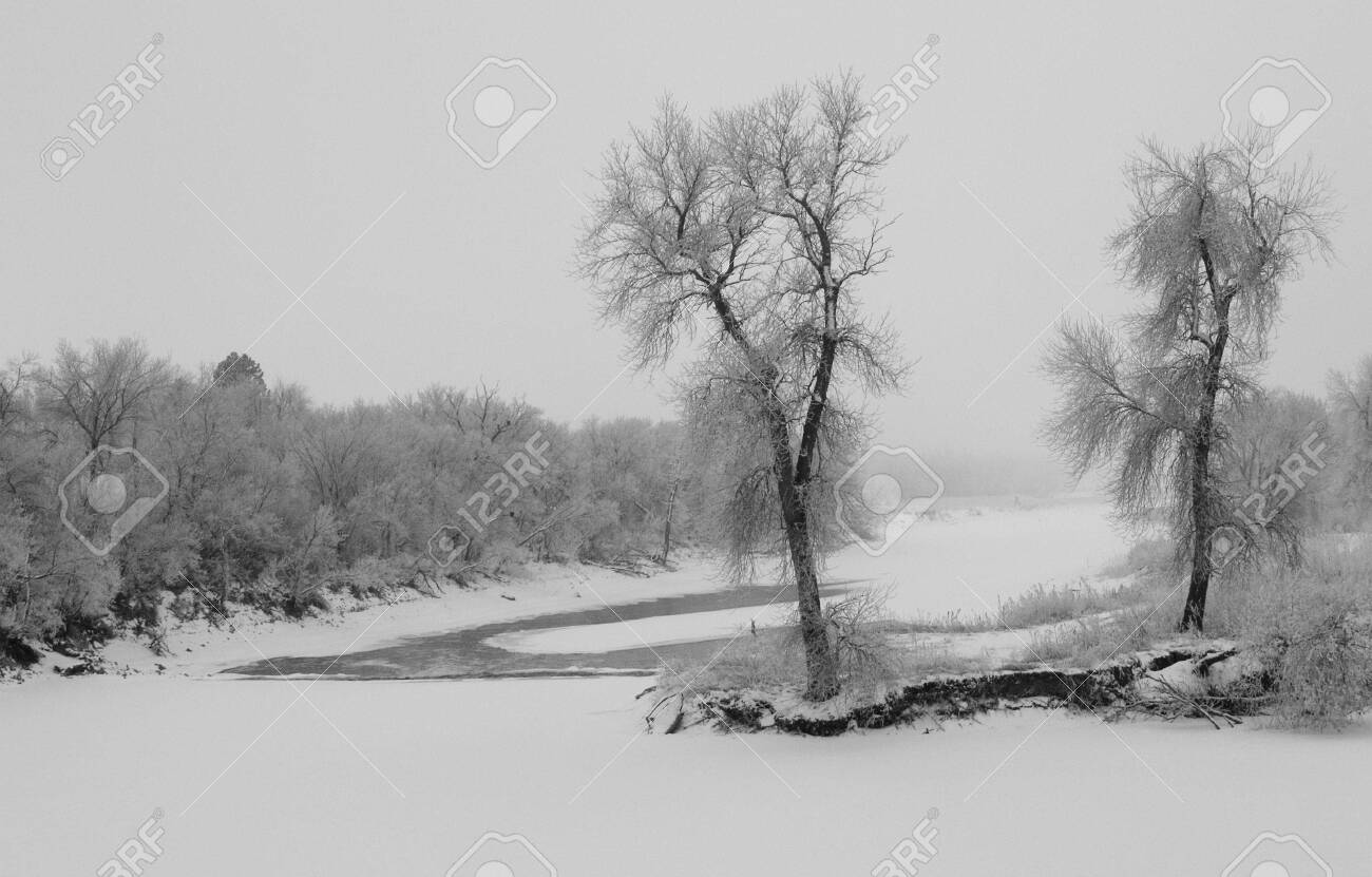 James River Winter - South Dakota Stock Photo - 2324079