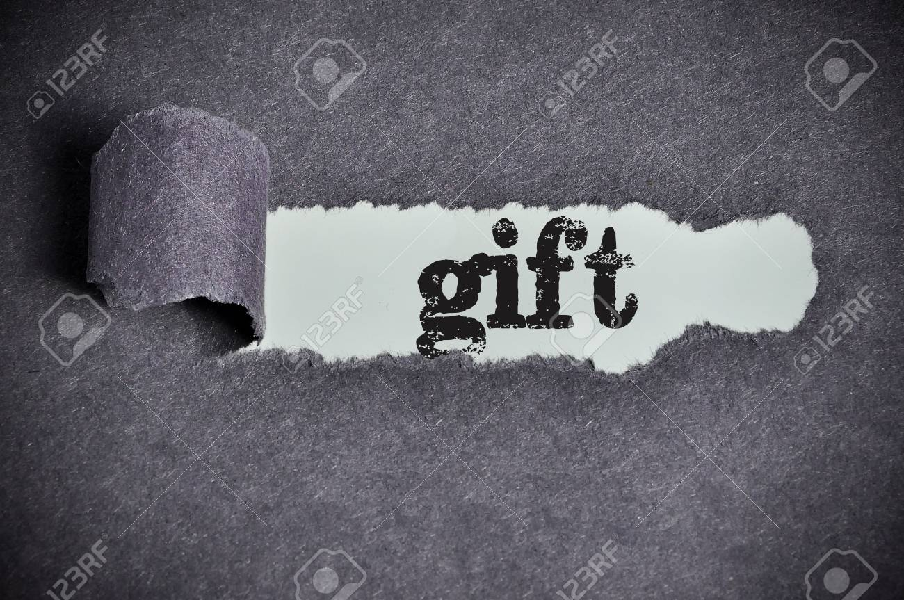 Gift word under torn black sugar paper stock photo picture and gift word under torn black sugar paper stock photo 36713647 negle Images