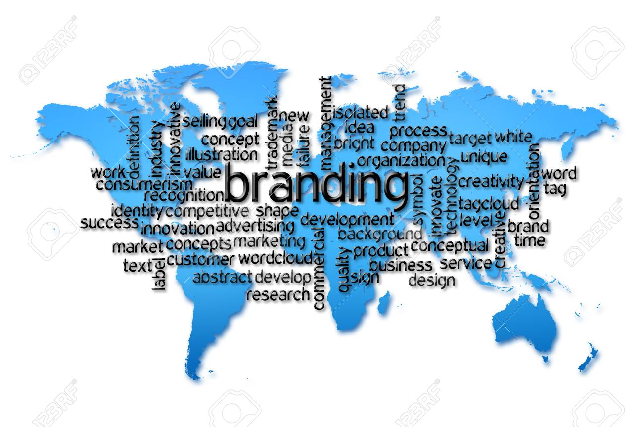 Word cloud of branding with world map background fotos retratos word cloud of branding with world map background foto de archivo 41604032 gumiabroncs Image collections