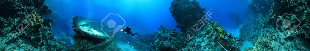 wreck at the bottom of the Red Sea - 37781288
