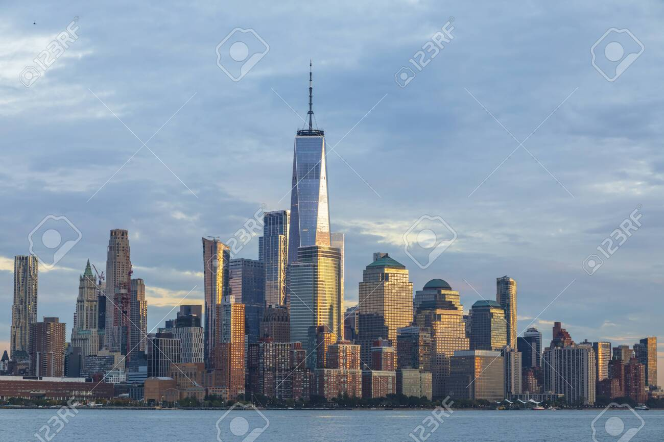 View of Manhattan skyline, New York City, USA - 140842698
