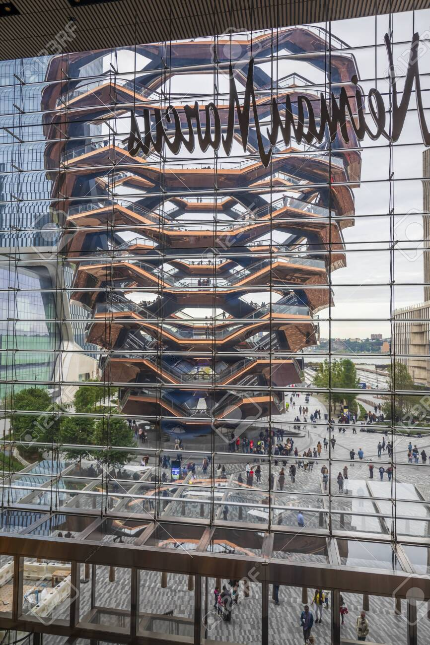 NEW YORK CITY / USA – OCTOBER 8, 2019: The Vessel in Hudson Yards - 140842703