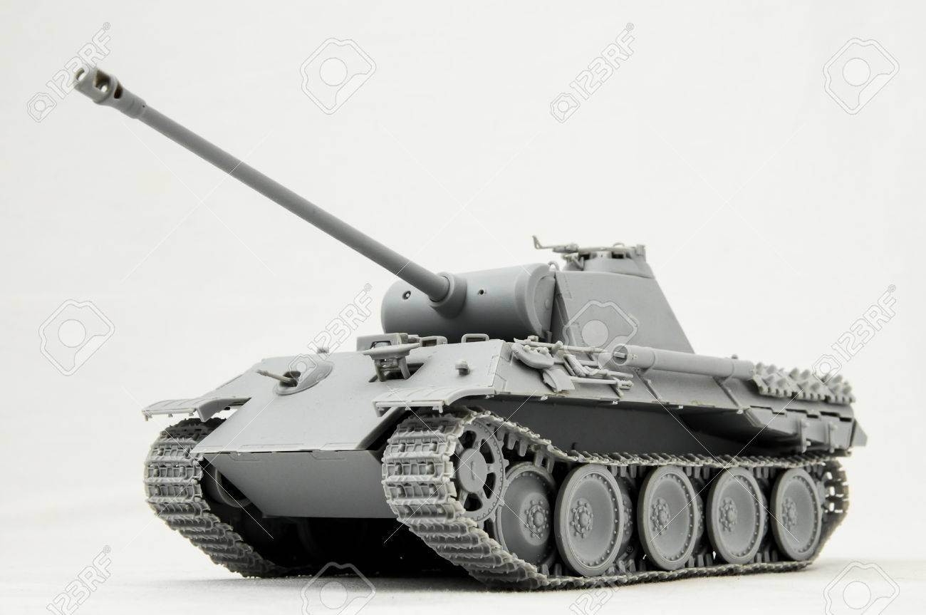 The Model Tank King Tiger 2 Of Ww2 On A White Background Stock Photo