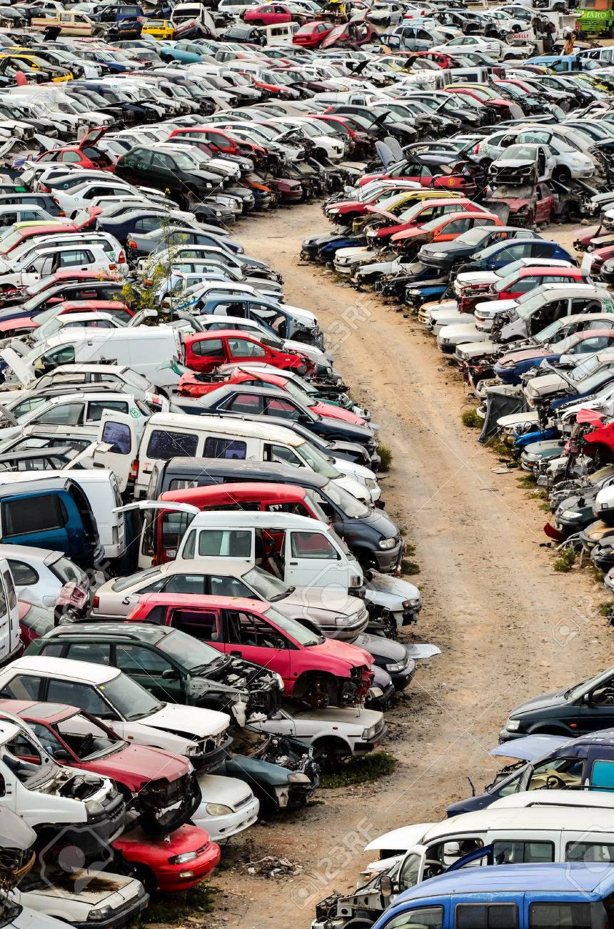 Old Junk Cars On Junkyard Stock Photo, Picture And Royalty Free ...