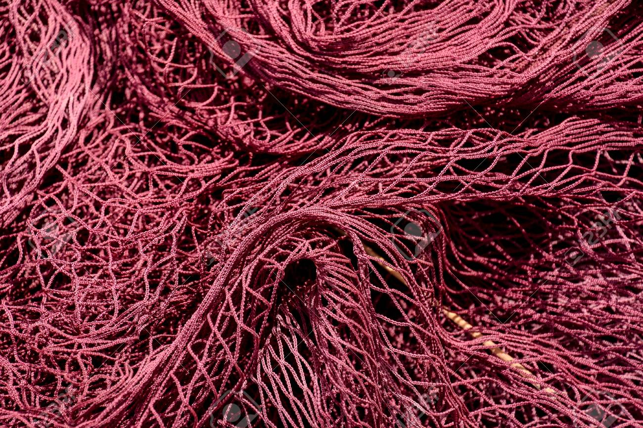 Photo Picture Close Up View Of Colored Fishing Net Stock Photo ...