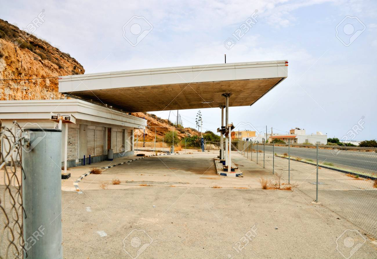 Abandoned Gas Station In Andalucia South Spain Stock Photo Picture And Royalty Free Image Image 83985575