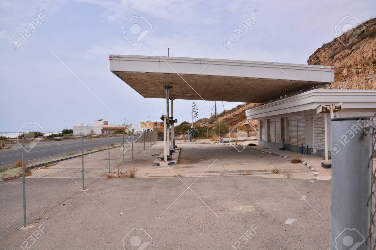 Abandoned Gas Station In Andalucia South Spain Stock Photo Picture And Royalty Free Image Image 119666774