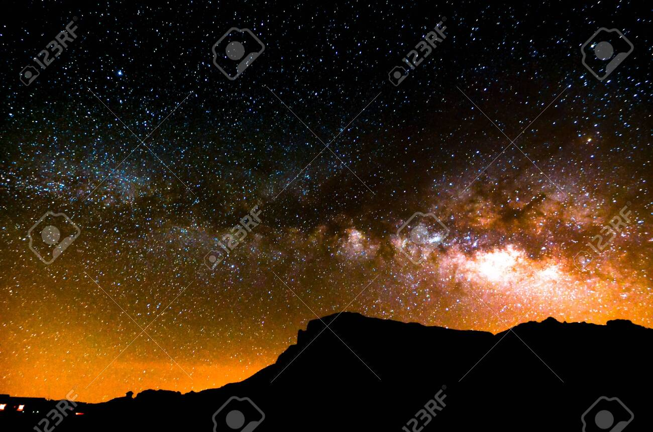 Night Sky Picture Darkness Planets and Stars - 121294361
