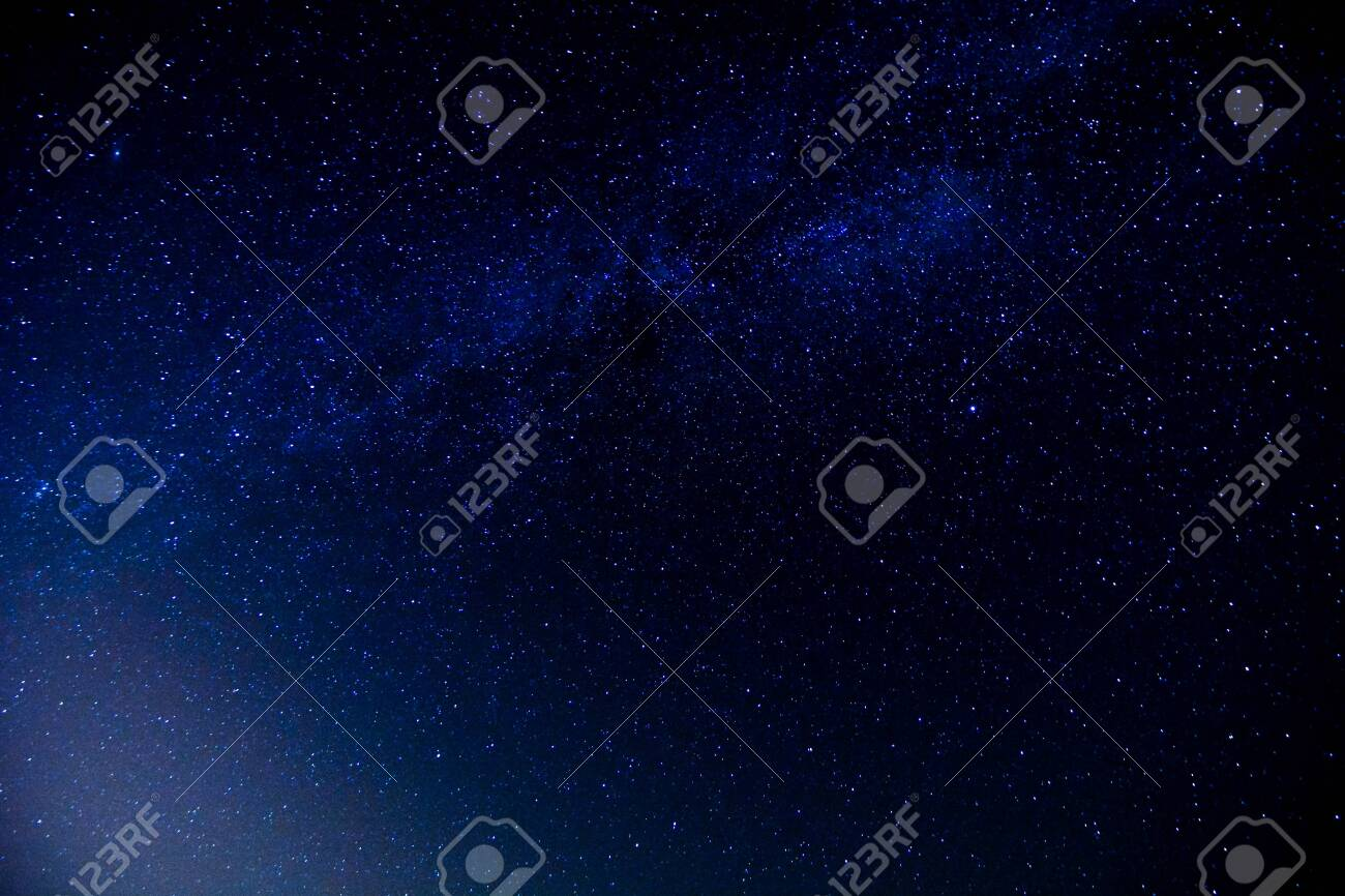 Starry Night Sky with a lot of Stars Background - 146664042