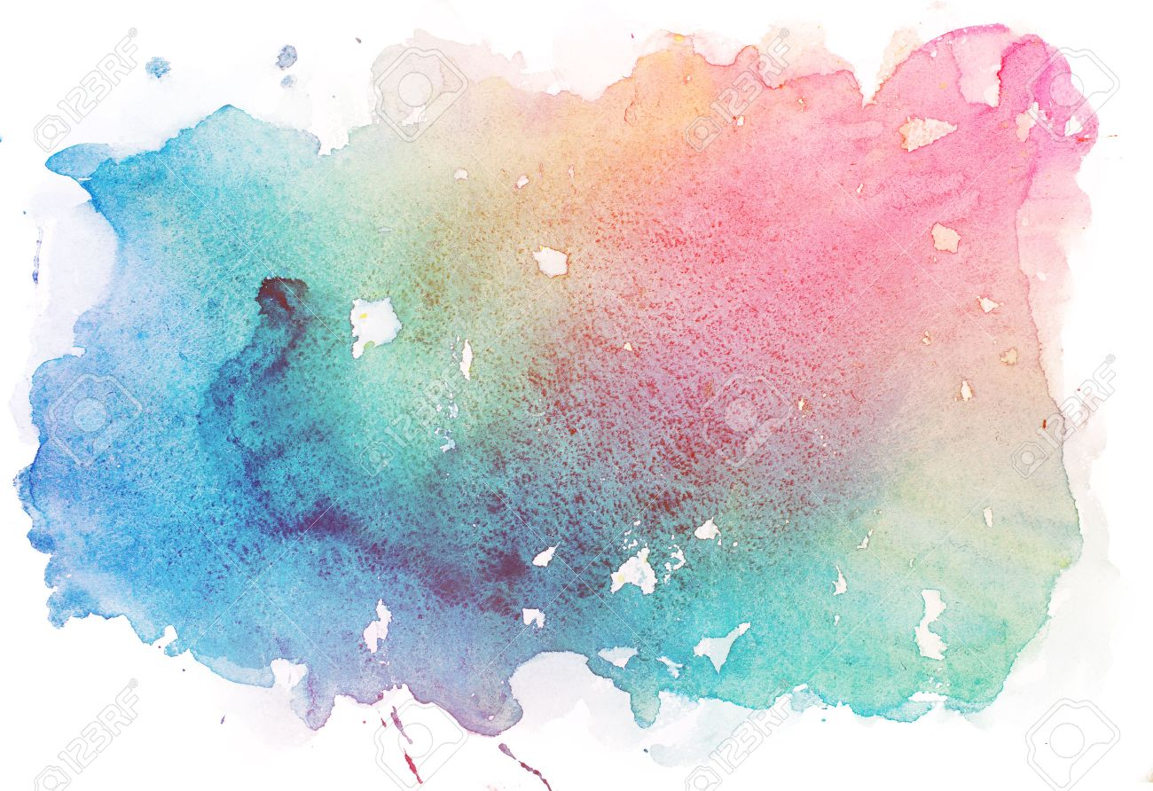 Image Aquarelle abstract watercolor aquarelle paint hand drawn colorful splatter