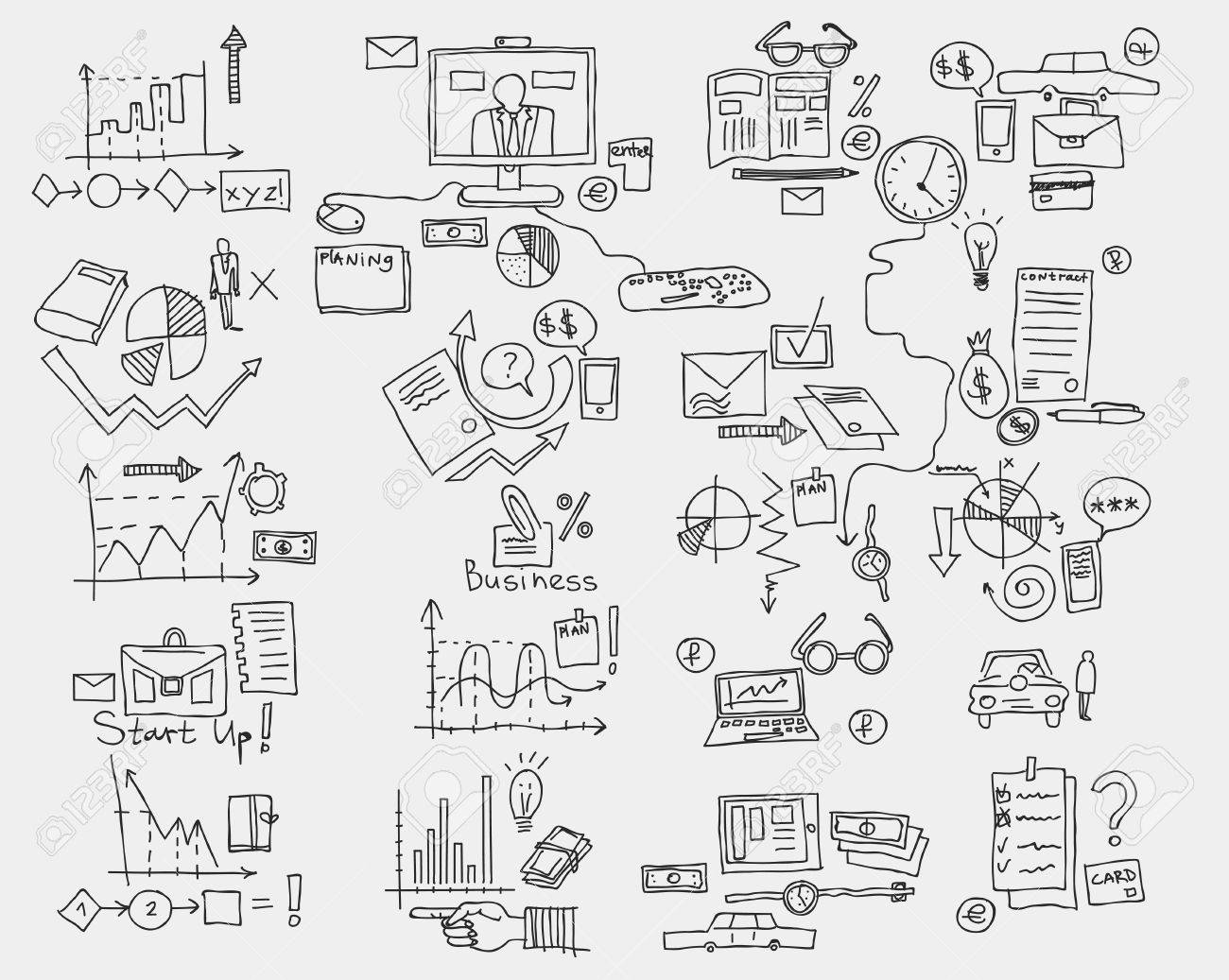 hand draw doodle elements business finance chart graph stock photo Draw Tools hand draw doodle elements business finance chart graph stock photo 62451817