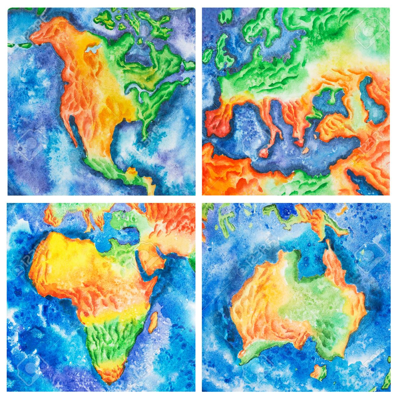 Europe Map In Australia.Stock Illustration