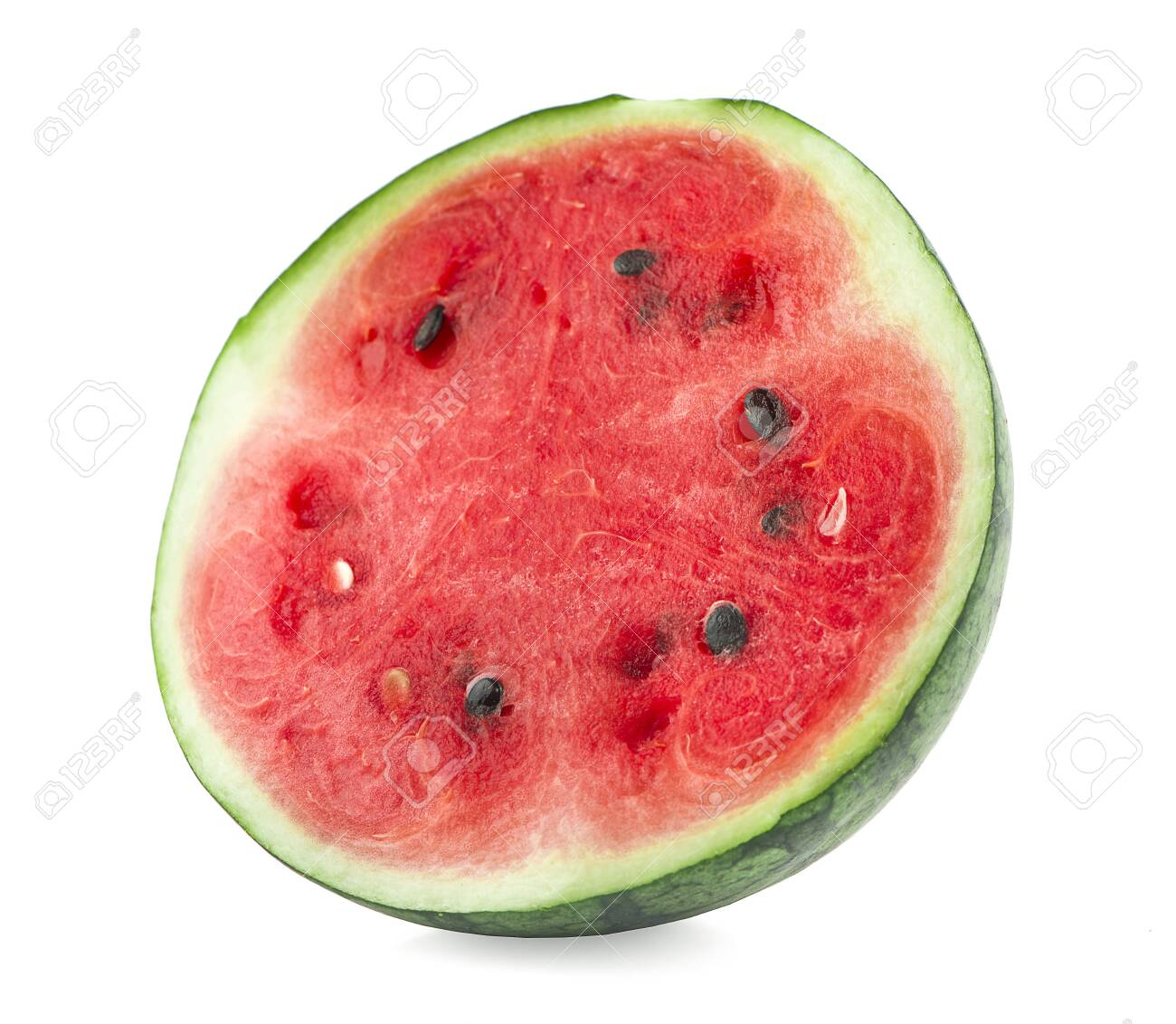 half of watermelon an isolated on white background - 138938330