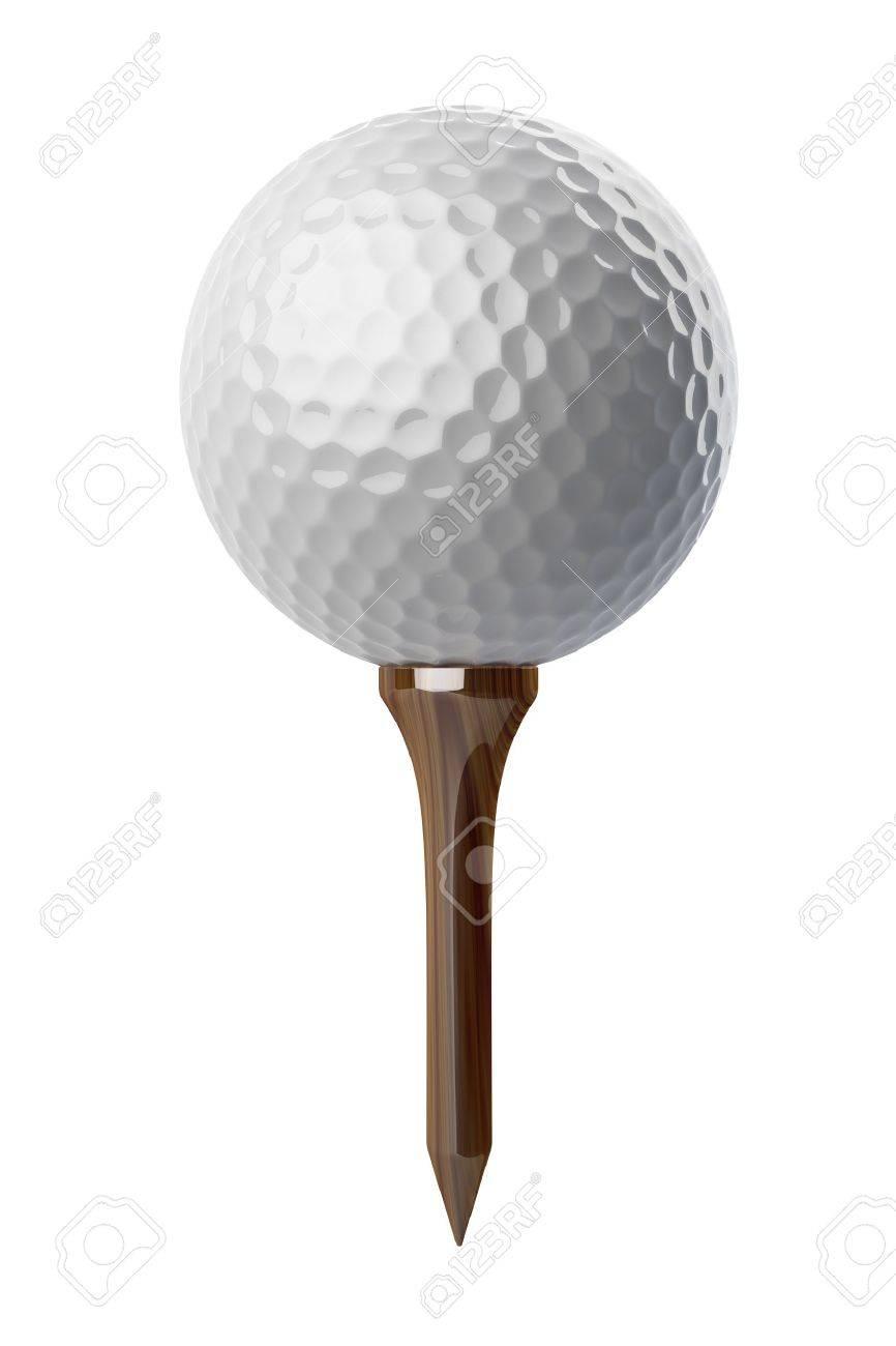 golf ball on tee stock photos royalty free golf ball on tee