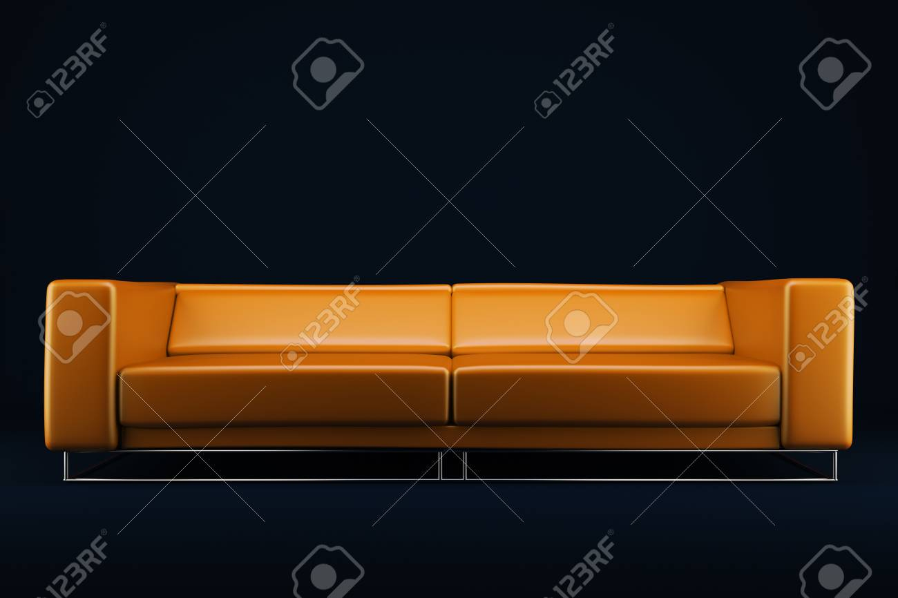 Orange couch Stock Photo - 12987065