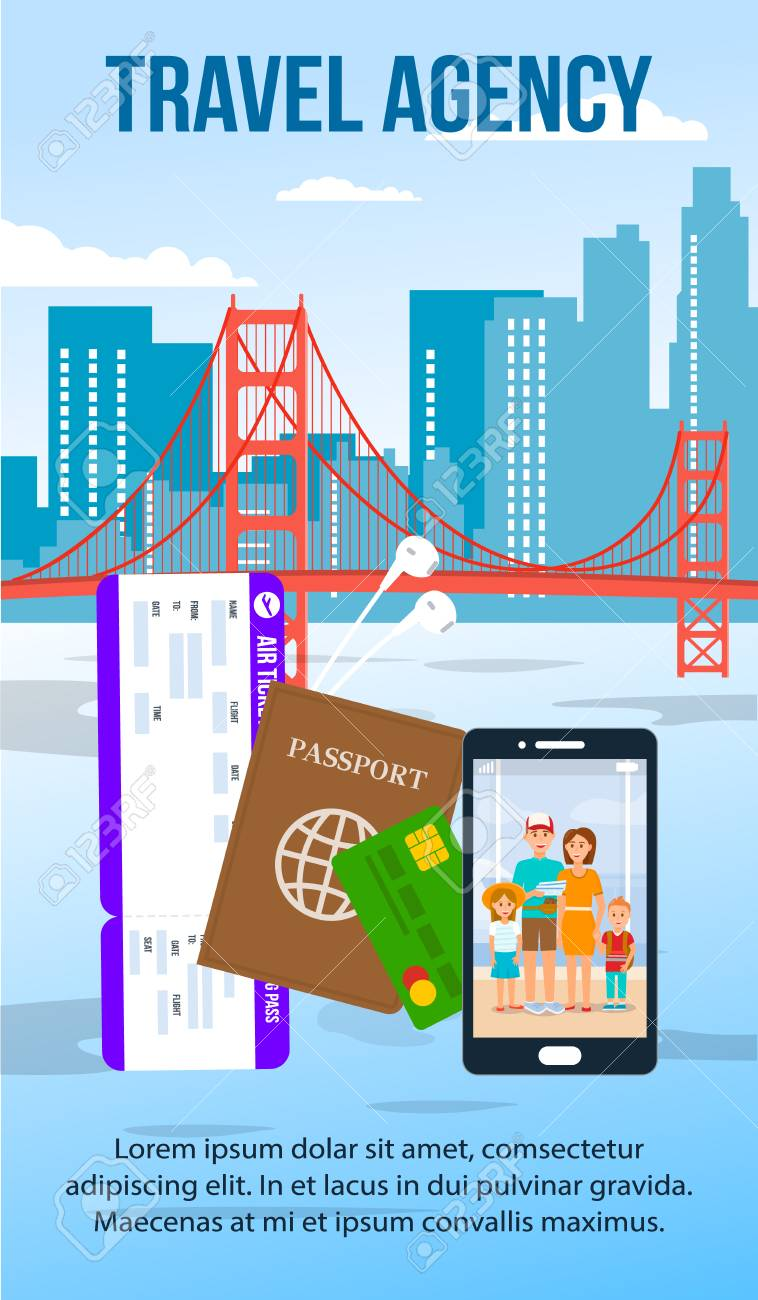 San Francisco Cityscape Flat Flyer With Text Space Travel Agency Royalty Free Cliparts Vectors And Stock Illustration Image 117580090