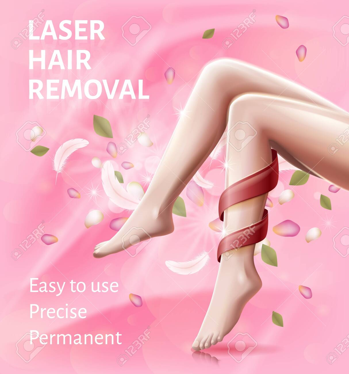 Laser Hair Removal Device Easy To Use Advertising Banner For Royalty Free Cliparts Vectors And Stock Illustration Image 124573974