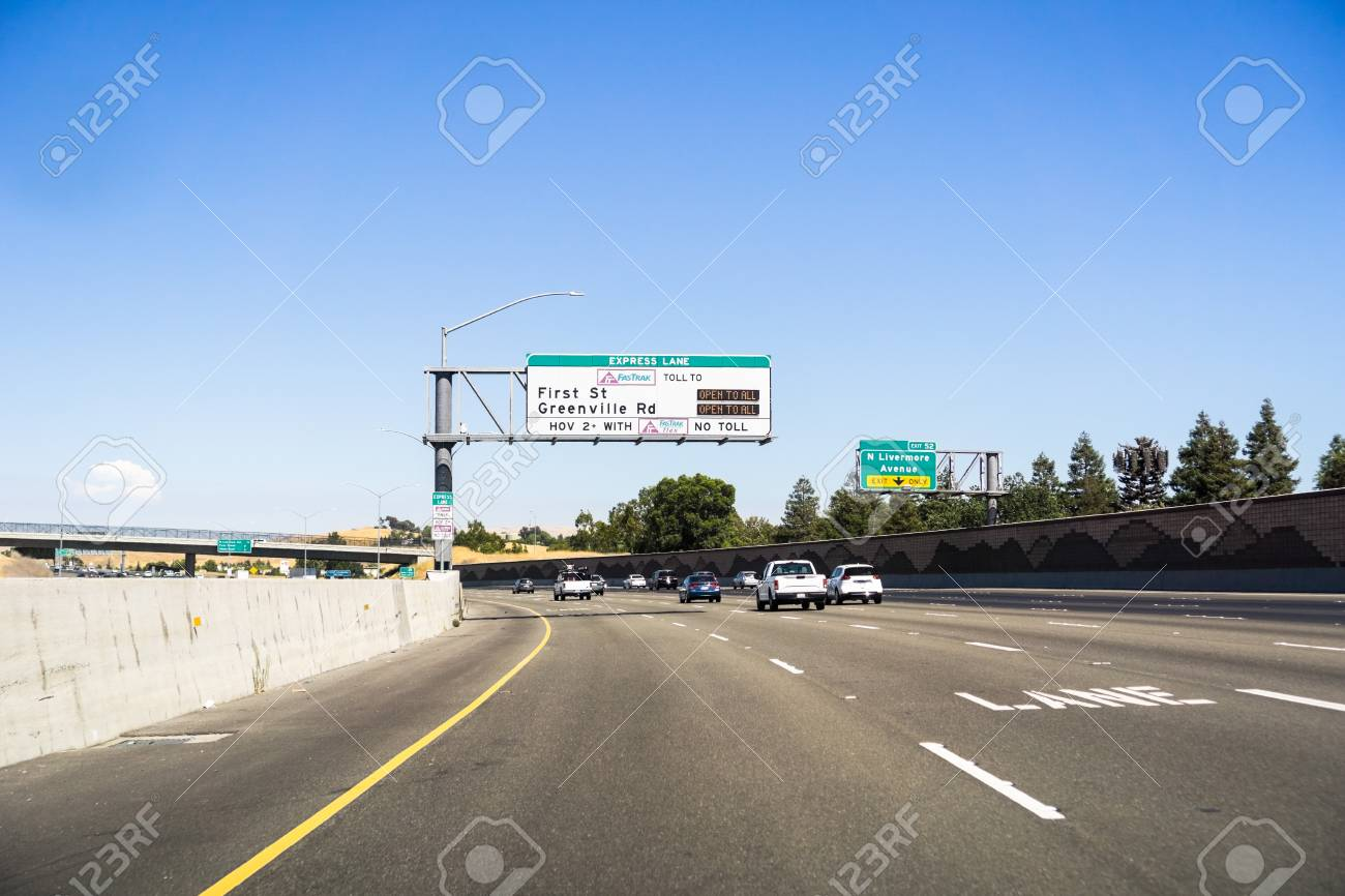 Express Lane California >> July 15 2018 Livermore Ca Usa Travelling On The Express