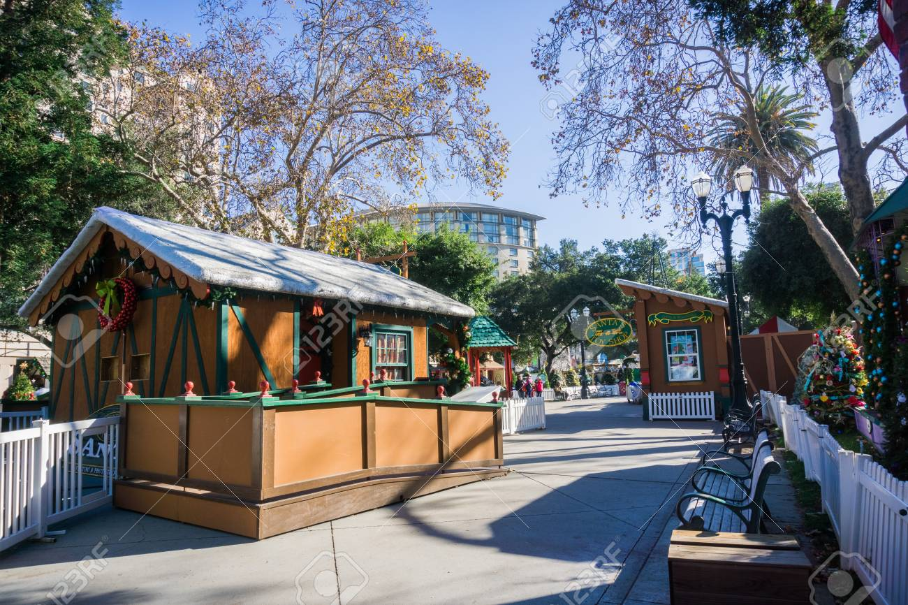 Christmas In The Park San Jose.December 6 2017 San Jose Ca Usa Alley And Exhibits At