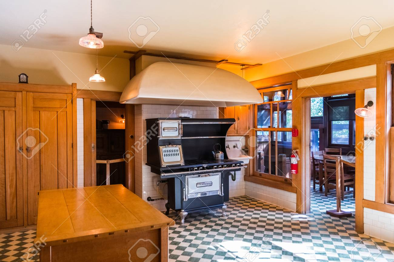 March 15 2018 Pasadena Ca Usa Interior View Of The Kitchen
