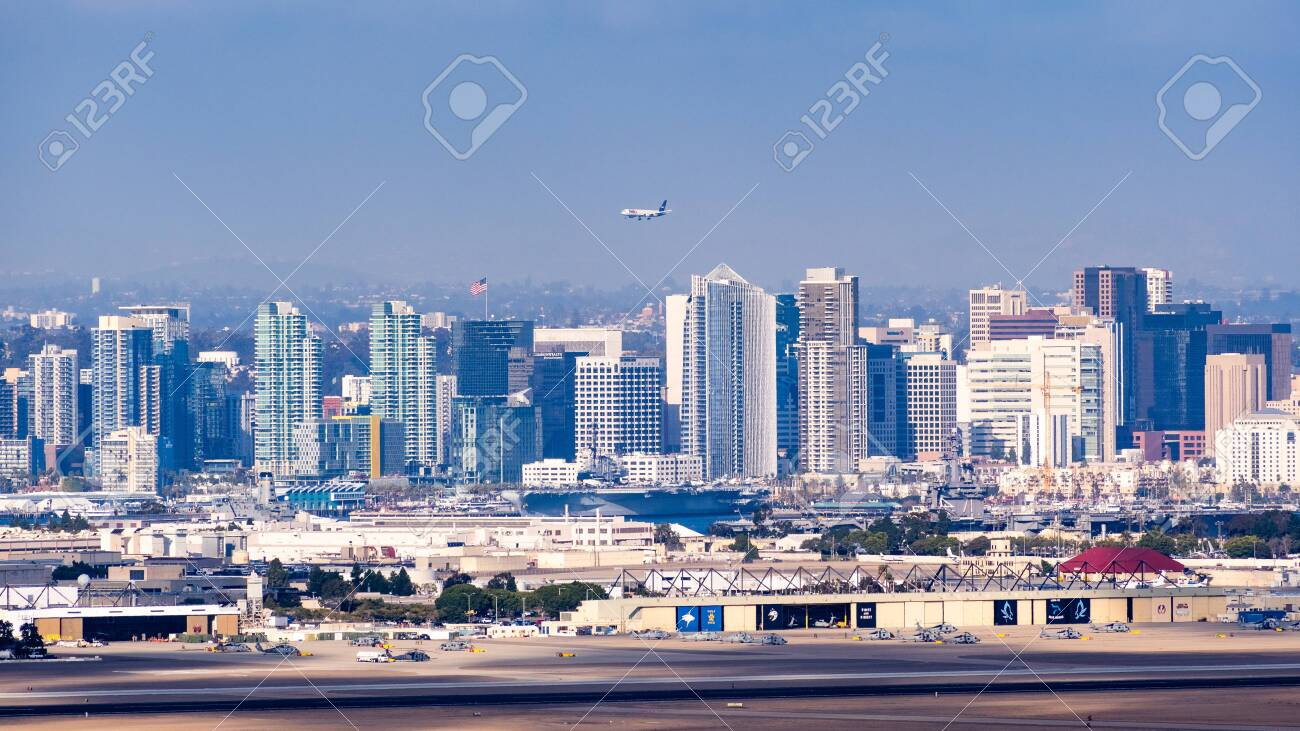 March 19 2019 San Diego Ca Usa Panoramic View Of The Downtown Stock Photo Picture And Royalty Free Image Image 122235651