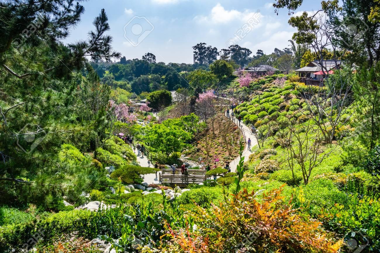 March 19, 2019 San Diego / CA / USA - Landscape in Japanese Friendship
