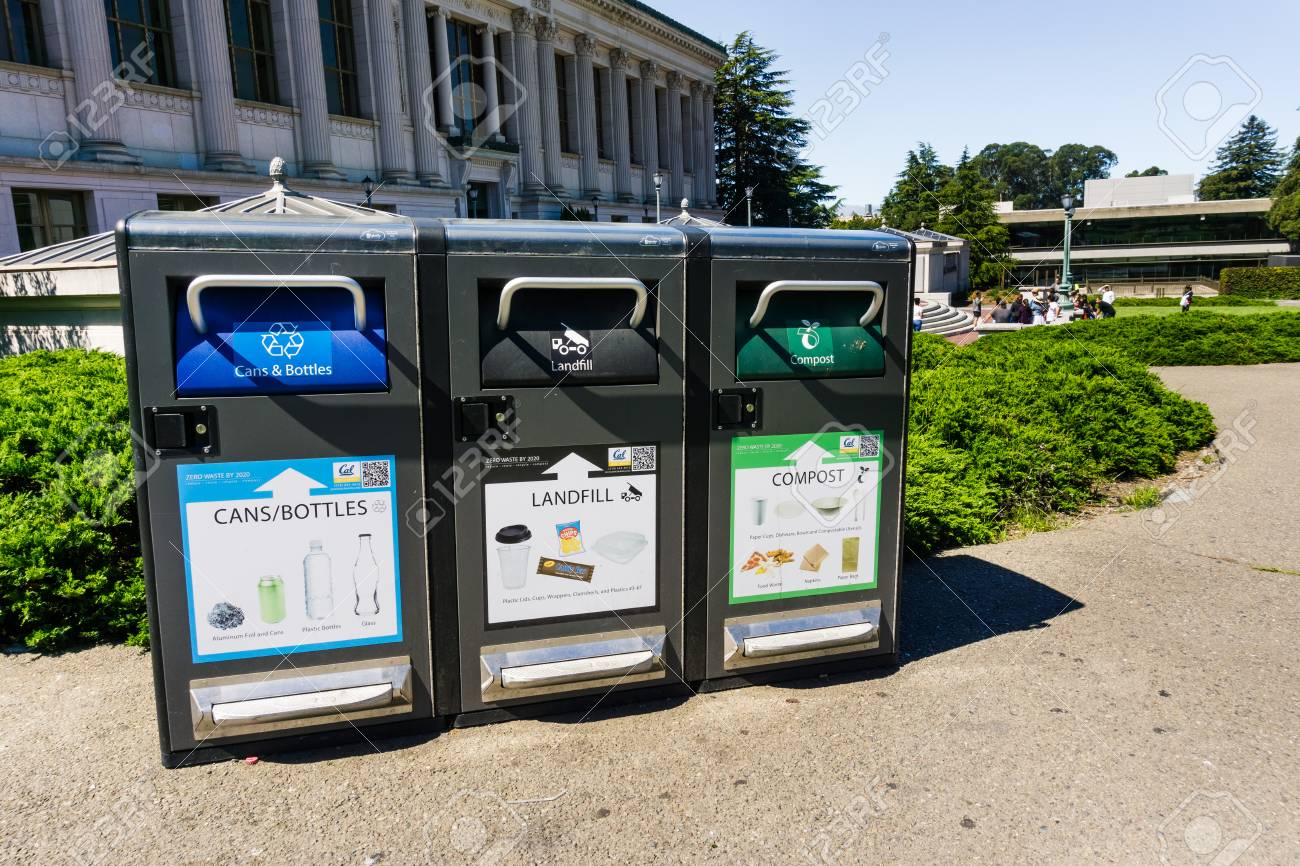 July 13, 2019 Berkeley / CA / USA - Recycling (cans And Bottles ...