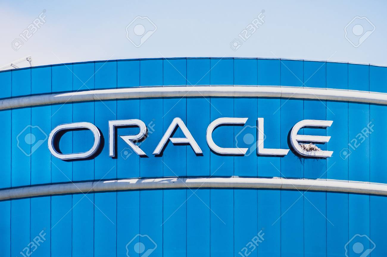August 1, 2019 Redwood City / CA / USA - Oracle logo at their