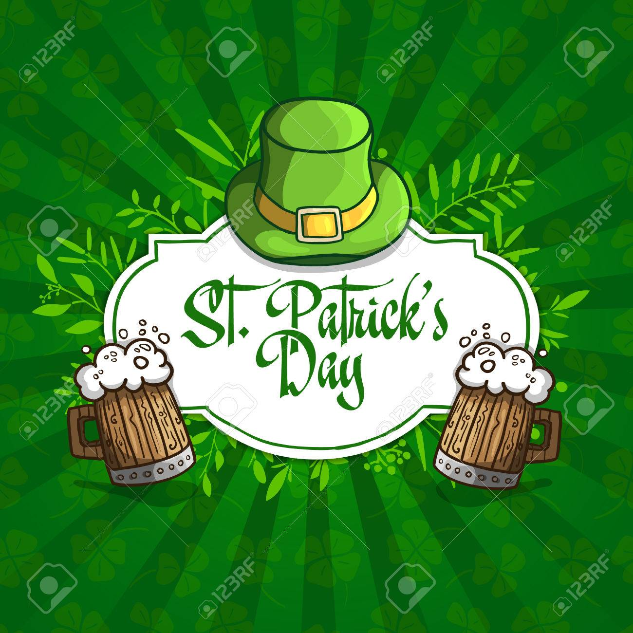template design banners logos signs posters for st patrick u0027s