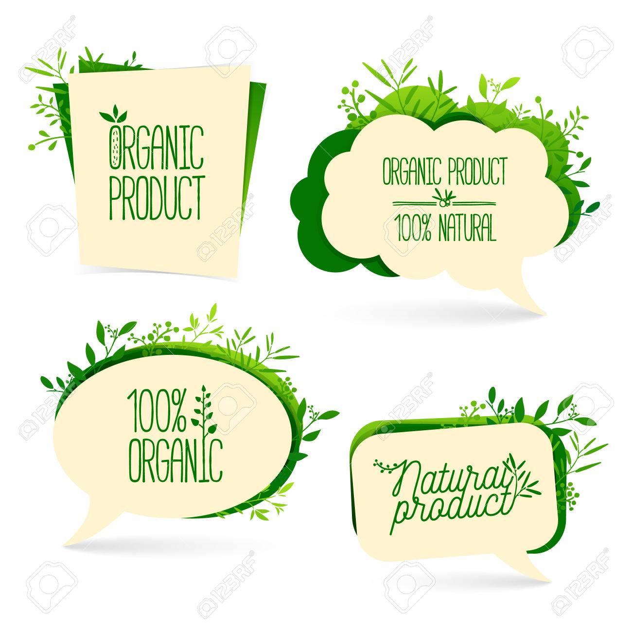 Set bubbles  For the presentation, commerce promotion  Organic