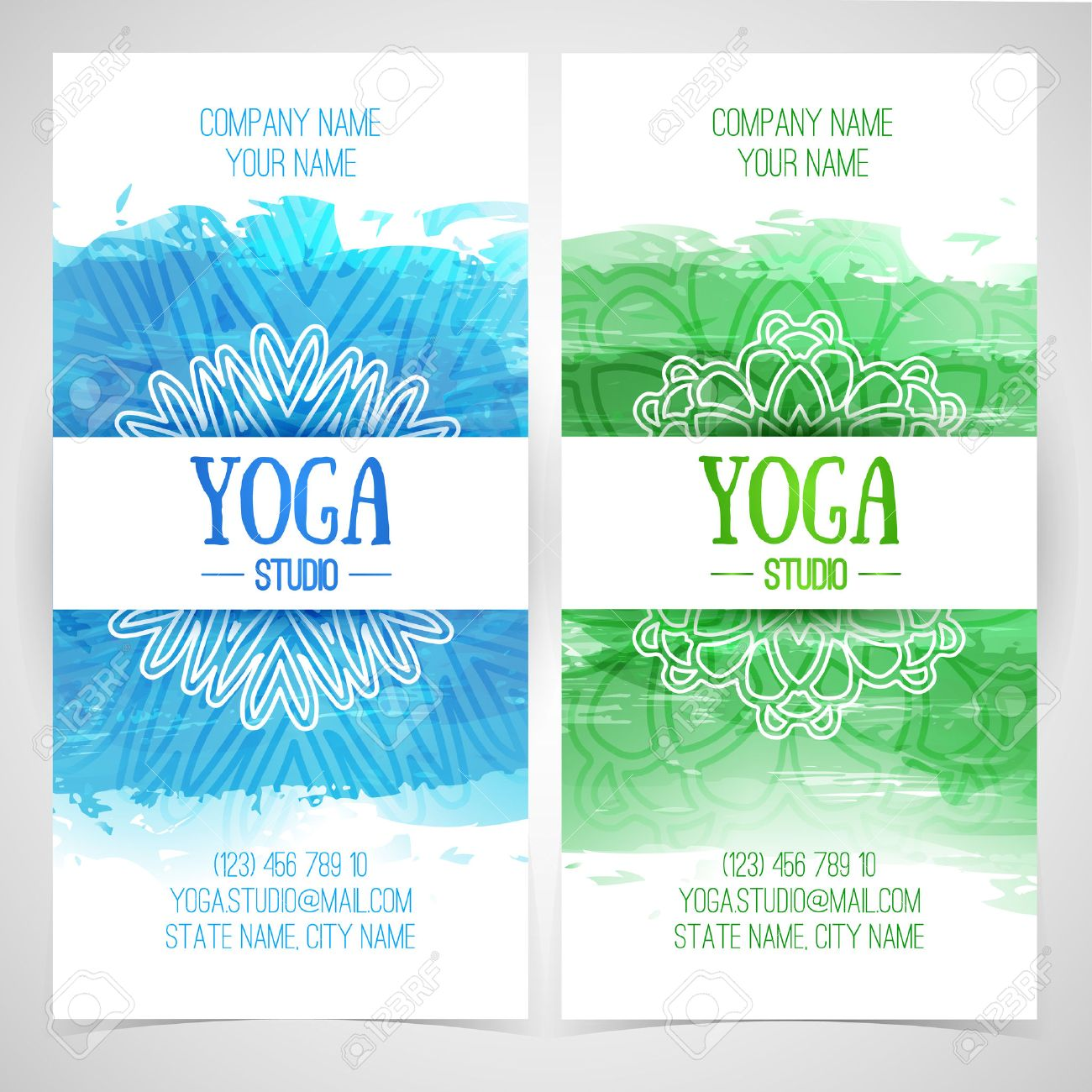 Set design template brochures cards invitations flyers for set design template brochures cards invitations flyers for a yoga studio with watercolor stopboris Image collections