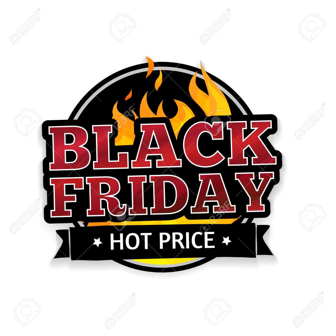 Round Retro Logo Icon Label Sticker For Black Friday The Royalty Free Cliparts Vectors And Stock Illustration Image 48033202