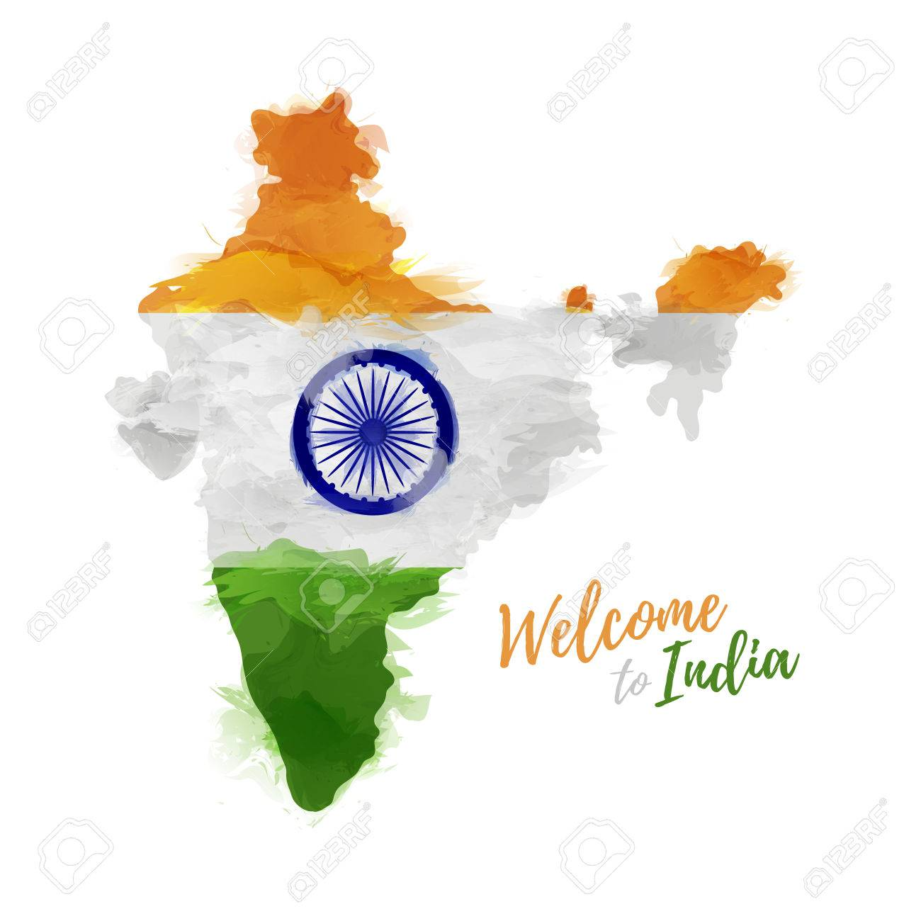 symbol poster banner india map with the decoration of the