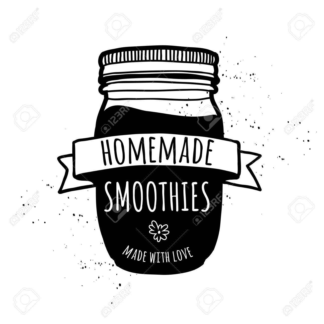 Startseite Smoothies. Symbol Nach Hause Limonade, Cocktail, Saft ...