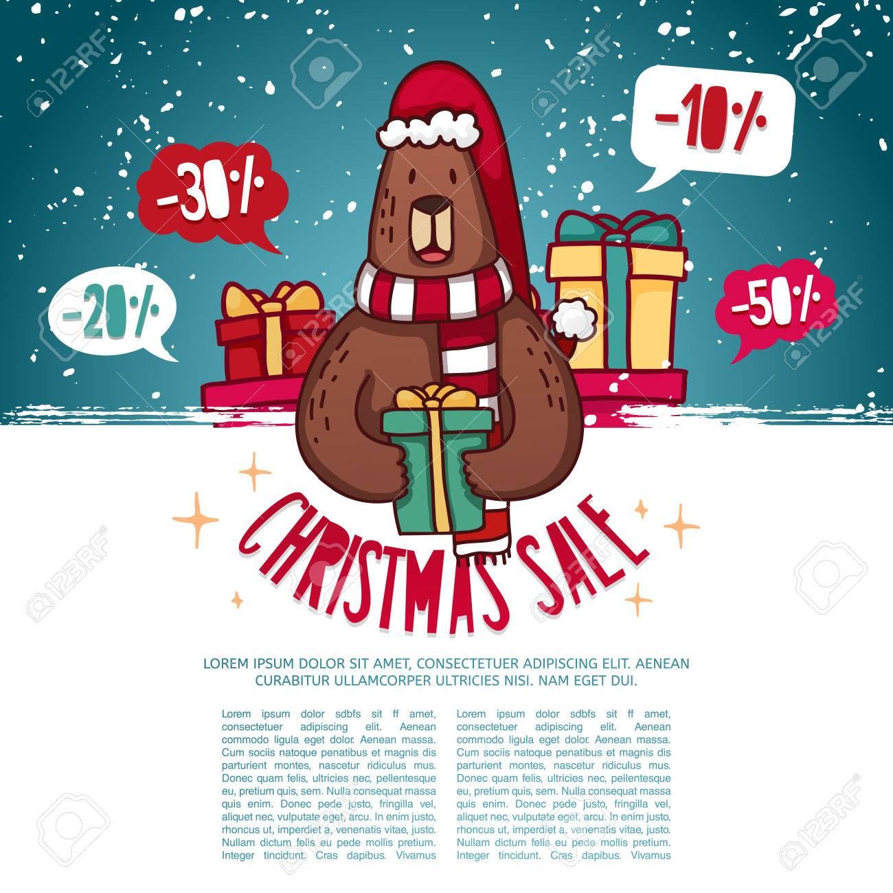 Set Design Vorlage Des Neuen Jahres Rabatt Banner Weihnachtsplakat