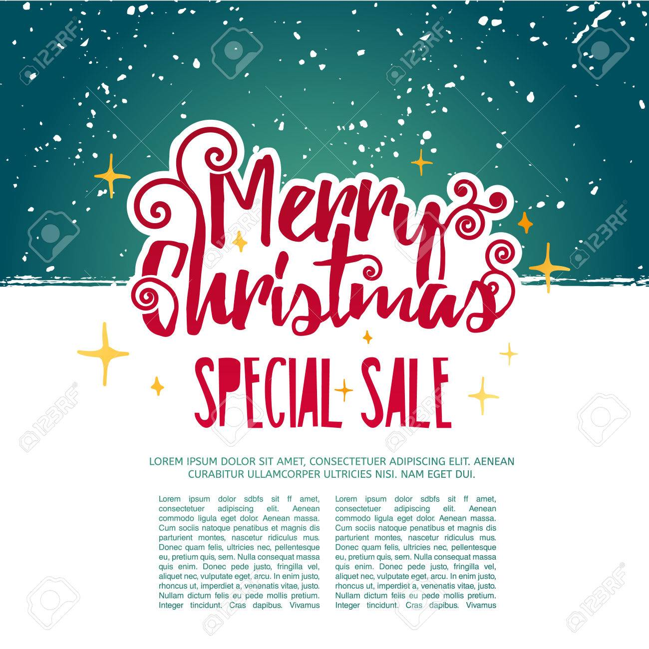 template design merry christmas banner happy holiday brochure