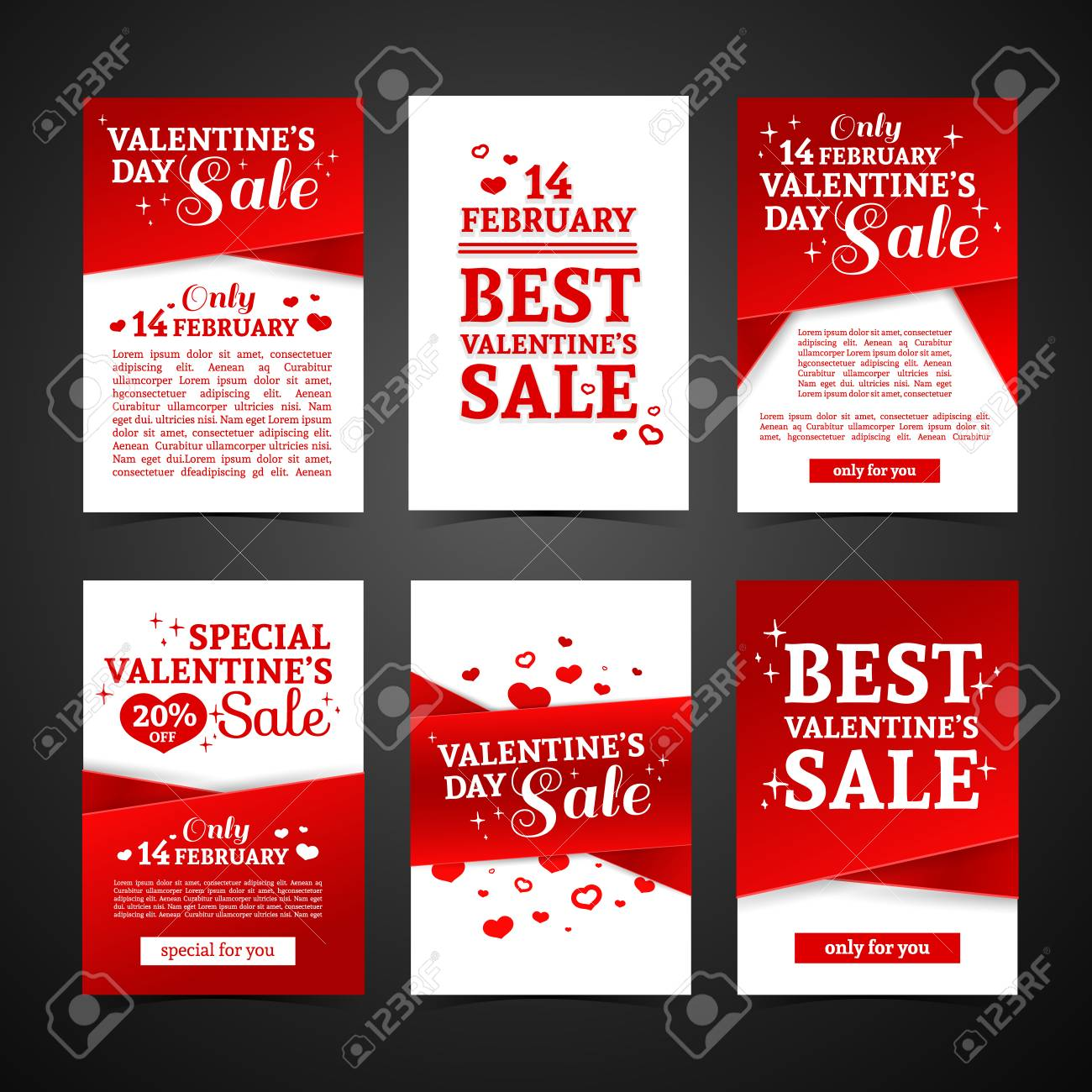Sale banners price tag paper card template collection. Vector stock.