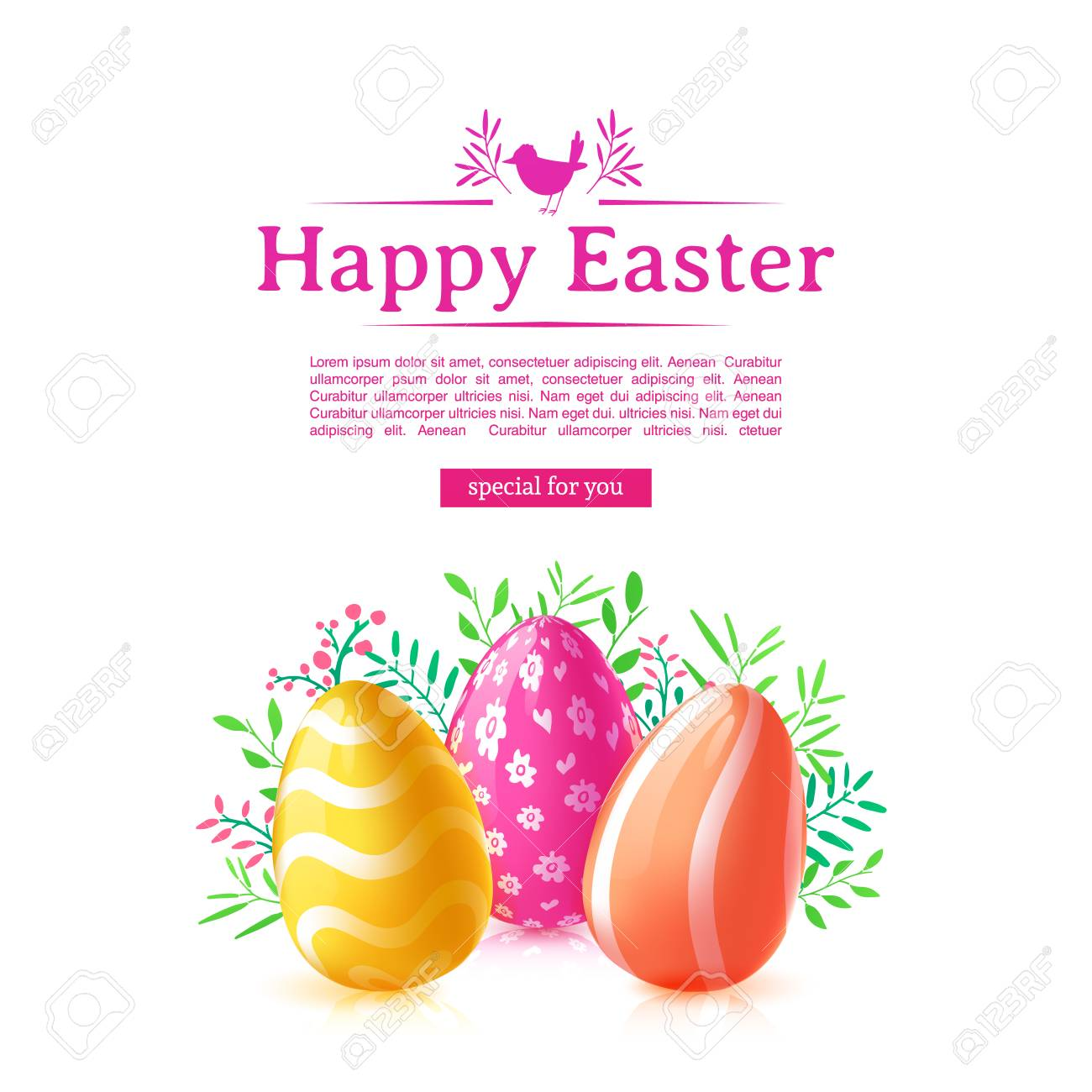 design template banner for happy easter poster decoration colored