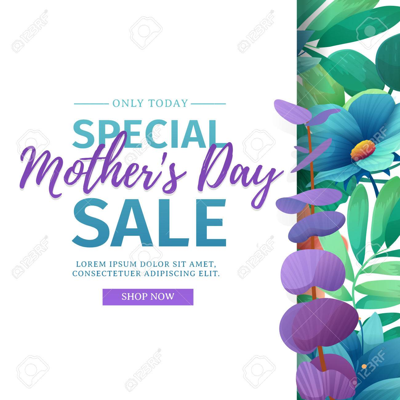 template design discount banner for happy mother s day square