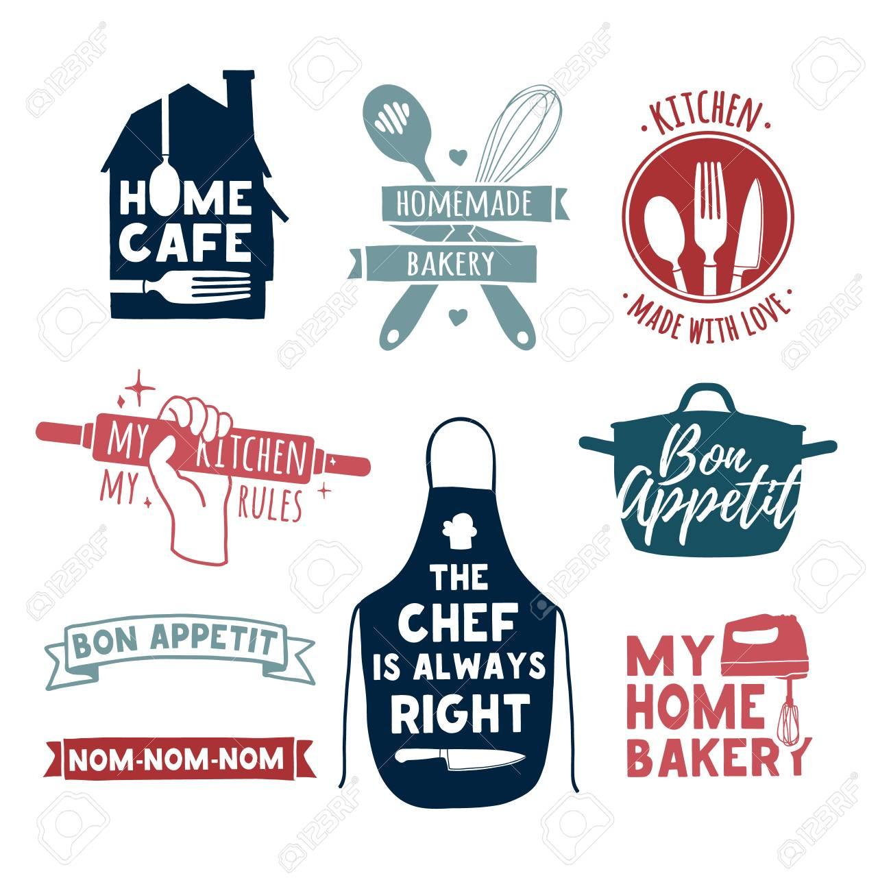 Set Of Color Vintage Retro Handmade Badges Labels And Logo Elements Symbols For