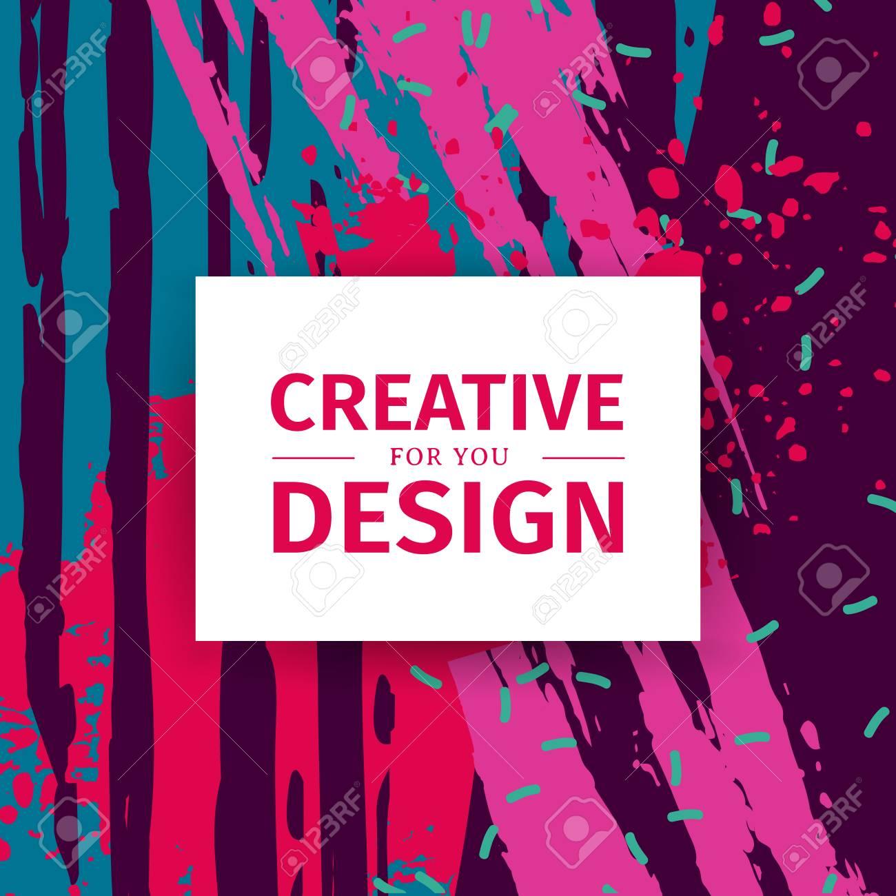 Plantilla De Diseño De Banner Cuadrado Con Fondo De Textura. Cartel ...