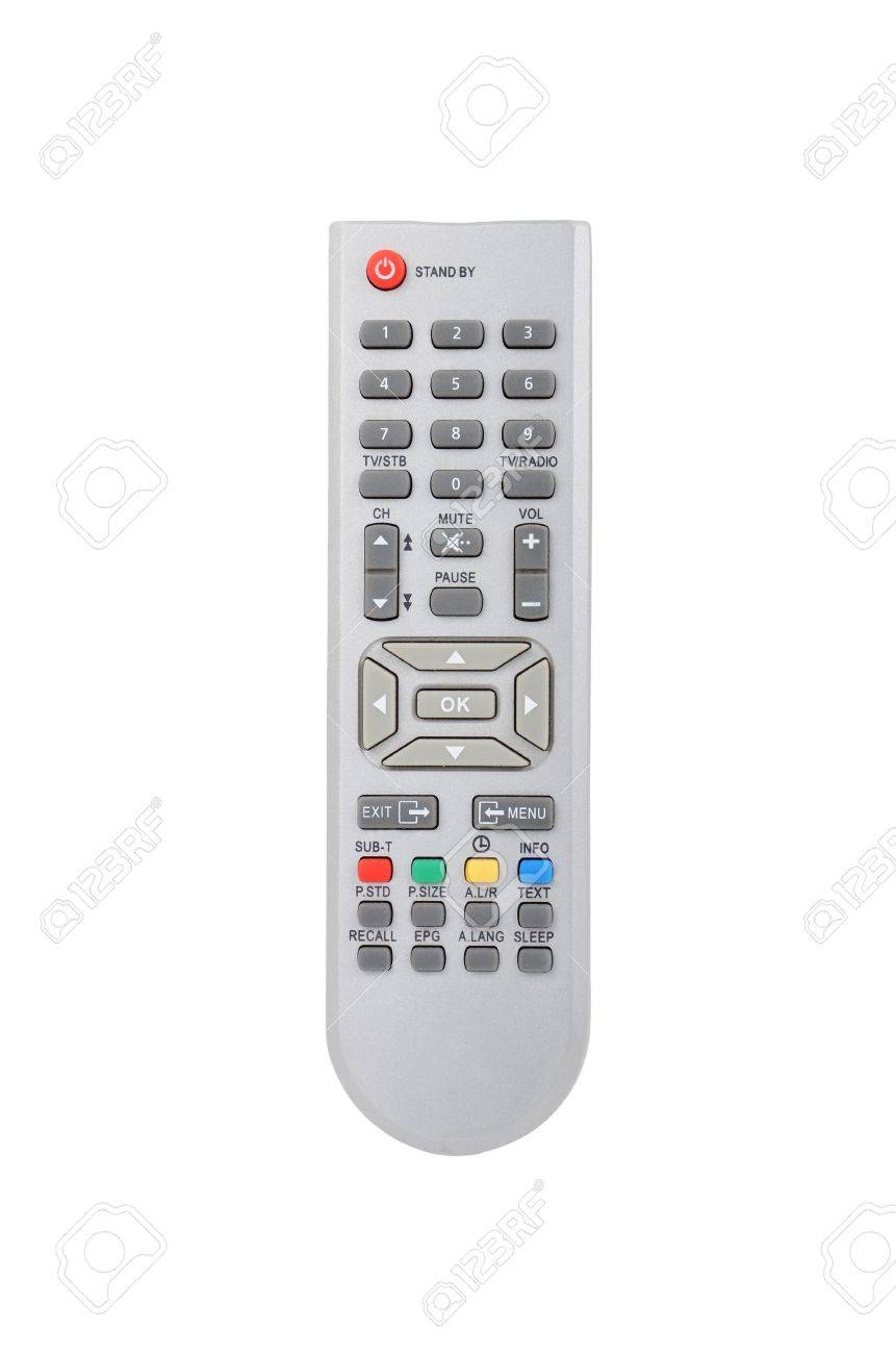 Remote control for cable TV set on white background Stock Photo - 10032525