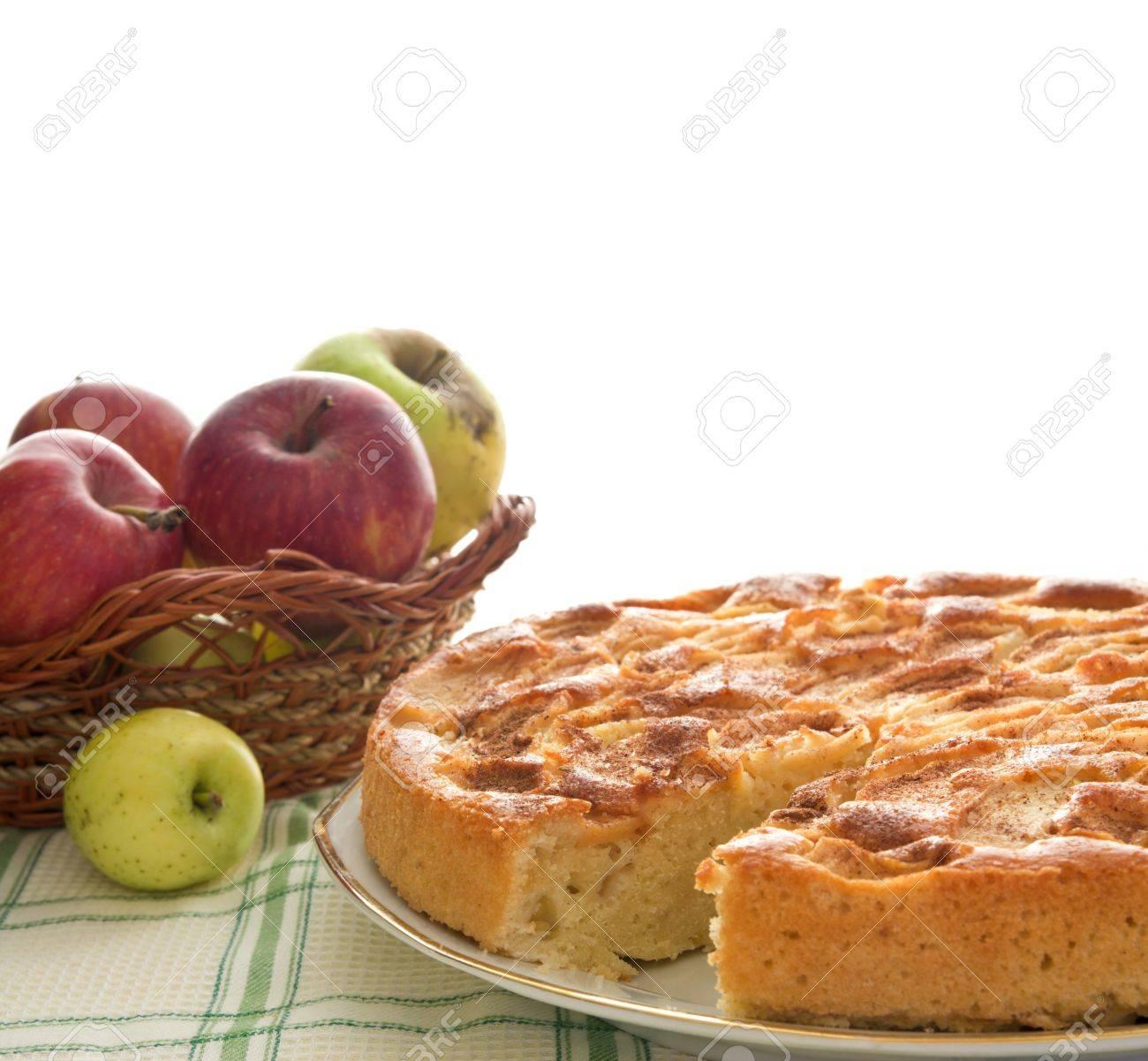 Homemade apple pie isolated on white Stock Photo - 8130327