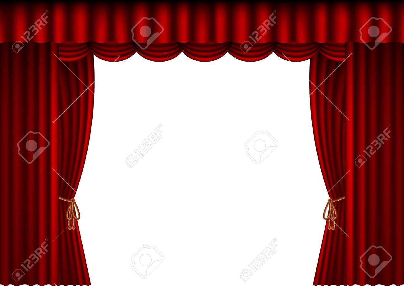 Bl blue stage curtains background - Acting Stage Illustration Of A Theatre Curtain